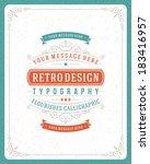 retro typographic design...   Shutterstock .eps vector #183416957