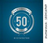 golden vintage anniversary... | Shutterstock .eps vector #183416969