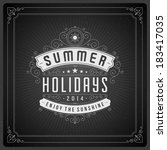 summer vector typography poster ... | Shutterstock .eps vector #183417035