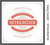retro typographic design... | Shutterstock .eps vector #183417041