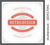 retro typographic design...   Shutterstock .eps vector #183417041