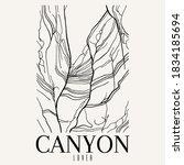 Canyon Lover. Vector Hand Drawn ...