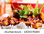 close up of sweet and sour pork ... | Shutterstock . vector #183419684