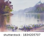 Morning Mist By The Lake With...