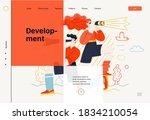 business topics   development ...   Shutterstock .eps vector #1834210054