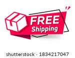 red vector illustration banner...   Shutterstock .eps vector #1834217047
