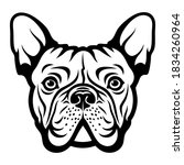 french bulldog face isolated... | Shutterstock .eps vector #1834260964