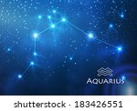 Постер, плакат: zodiac aquarius constellation