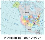 north america administrative... | Shutterstock .eps vector #1834299397