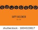happy halloween. card with... | Shutterstock .eps vector #1834323817
