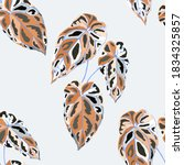 tropical pattern. jungle exotic ...   Shutterstock .eps vector #1834325857