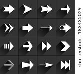 16 arrow flat icon with black...