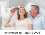 high angle view of a happy... | Shutterstock . vector #183436925
