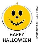 halloween jack o lantern.... | Shutterstock .eps vector #1834452