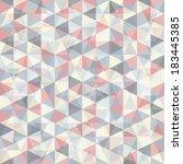 abstract retro geometric... | Shutterstock .eps vector #183445385