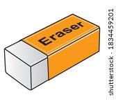 eraser vector illustration...   Shutterstock .eps vector #1834459201