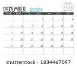 calendar 2021 year. december... | Shutterstock .eps vector #1834467097