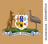 great seal of australia  seal... | Shutterstock .eps vector #1834485514