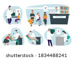 dental care for patients ... | Shutterstock .eps vector #1834488241