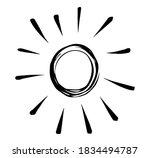 doodle sun burst in vintage... | Shutterstock .eps vector #1834494787