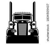 semi usa truck  vector...   Shutterstock .eps vector #1834505437