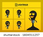 set of cute lightbulb... | Shutterstock .eps vector #1834511257