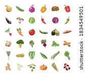 vegetable and fruit collection. ... | Shutterstock . vector #1834549501