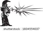 halloween 2020 vector... | Shutterstock .eps vector #1834554037