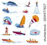 water sports activity vector...   Shutterstock .eps vector #1834577827