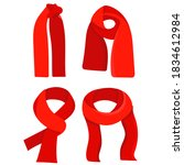 vector  isolated  red scarf in... | Shutterstock .eps vector #1834612984