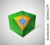 brazil flag concept in 3d glass ... | Shutterstock .eps vector #183462179