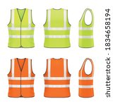 vector mockup of classic safety ... | Shutterstock .eps vector #1834658194
