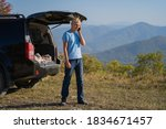 young man resting in nature... | Shutterstock . vector #1834671457
