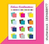 color combination vector design ...   Shutterstock .eps vector #1834688977