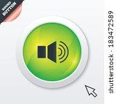 speaker volume sign icon. sound ...