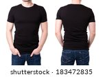 black t shirt on a young man... | Shutterstock . vector #183472835