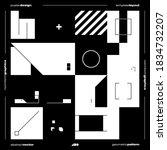 brutalism inspired graphic... | Shutterstock .eps vector #1834732207