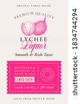 family recipe lychee liquor... | Shutterstock .eps vector #1834744294