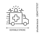 emergency linear icon....   Shutterstock .eps vector #1834775707