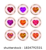 stories covers icons heart theme | Shutterstock . vector #1834792531