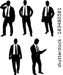 businessman collection vector | Shutterstock .eps vector #183480581