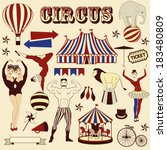 pattern of the circus | Shutterstock .eps vector #183480809