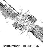 vector brush sroke texture.... | Shutterstock .eps vector #1834813237