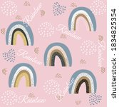 a seamless pattern with a pink...   Shutterstock . vector #1834825354