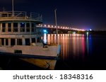 ship and bridge at night | Shutterstock . vector #18348316