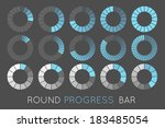 loading status icons  round... | Shutterstock .eps vector #183485054