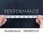 measuring performance  | Shutterstock . vector #183485114