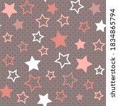 Asterisks. Seamless Patterns....