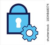 setting icon. setting with...   Shutterstock .eps vector #1834868074