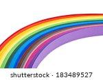rainbow paper strips   Shutterstock . vector #183489527